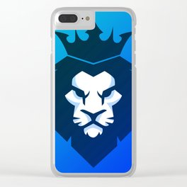 Lion Blue Shade Clear iPhone Case