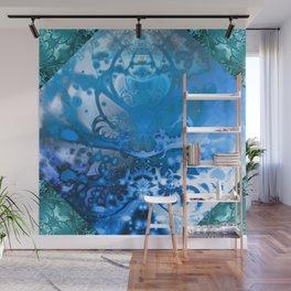 Meditating Entity (blue) Wall Mural