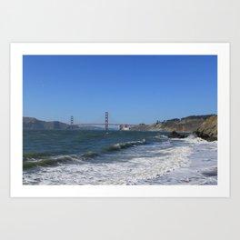 Golden Gate Bridge from China Beach Art Print