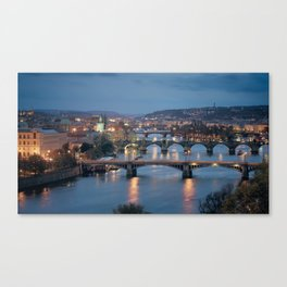 Prague Cityscape Canvas Print