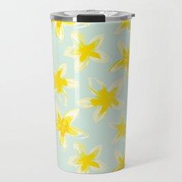 Yellow Plumeria Travel Mug