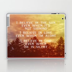 I Believe Laptop & iPad Skin
