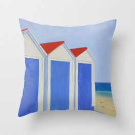 Summer Shacks #4 Throw Pillow