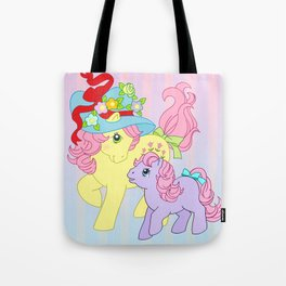 g1 my little pony Posey and baby Ember Tote Bag