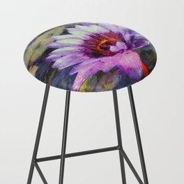 Purple Water Lily Bar Stool
