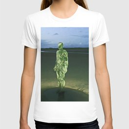 Last Iron Man on the Beach (Digital Art) T-shirt