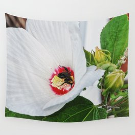 The Flower and the Bee Wall Tapestry