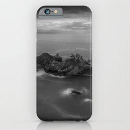Big Sur, California Pacific Coast Highway coastal beach black and white photograph / art photography iPhone Case