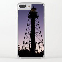 Sanibel Island Lighthouse Sunset Clear iPhone Case