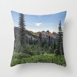 View of the Tatoosh Range Throw Pillow