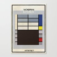 eames Canvas Prints featuring mondrian+eames by federico babina