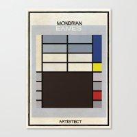 mondrian Canvas Prints featuring mondrian+eames by federico babina