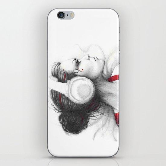 MUSIC Girl in Headphones iPhone & iPod Skin