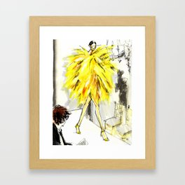 Yellow pop up #society6 Framed Art Print