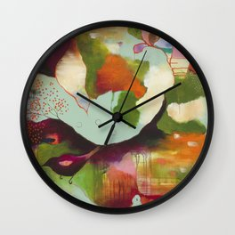 """""""Clouds Gave My Soul An Idea"""" Original Painting by Flora Bowley Wall Clock"""
