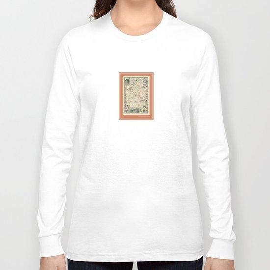 Bedford Village New York Map Print Long Sleeve T-shirt