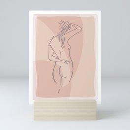 drawing of back Mini Art Print