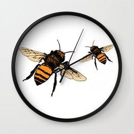 Just Bees! Wall Clock