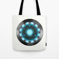 ironman Tote Bags featuring IRONMAN by Yuliya L