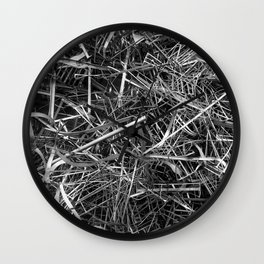 metal line Wall Clock