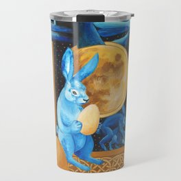 Celtic Lunar Rabbits and Hares - Easter, Ostara Travel Mug