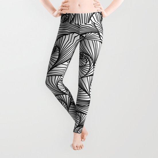 Fractal Sketch Light Leggings