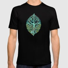 Colorful leaves 2X-LARGE Mens Fitted Tee Black