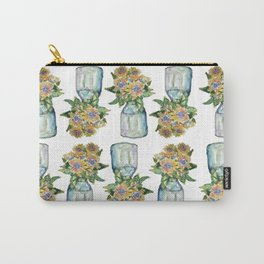 Watercolor Sunflower Vase Carry-All Pouch