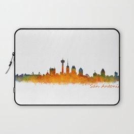 San Antonio City Skyline Hq v2 Laptop Sleeve