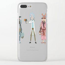 Amish Cyborg_ Hamurai_ Rick — Rick and Morty T-Shirt Clear iPhone Case