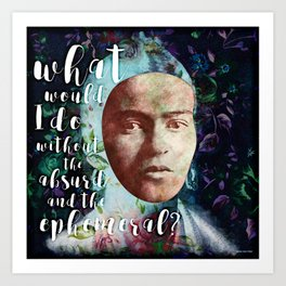 Frida Blue Art Print