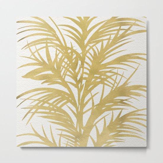 Gold Palms Metal Print