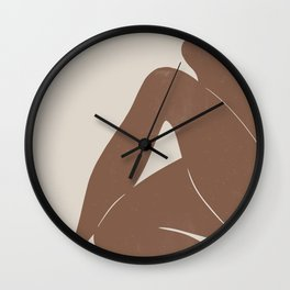 Abstract Nude, Body Illustration Wall Clock