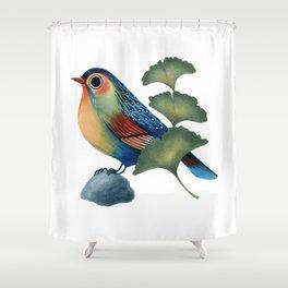 Ginkgo Bird Shower Curtain