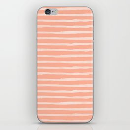 Sweet Life Thin Stripes Peach Coral Pink iPhone Skin