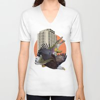 cage V-neck T-shirts featuring Cage home by Lerson