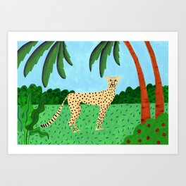 Cheetah in the jungle Art Print