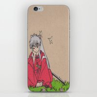 inuyasha iPhone & iPod Skins featuring InuYasha by MoonKitty Designs