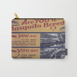 Vintage poster - Mosquito breeder Carry-All Pouch