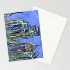 Blue Philadelphia Skyline Stationery Cards