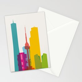 Shapes of Seoul accurate to scale Stationery Cards