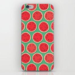 watermelon polka green iPhone Skin