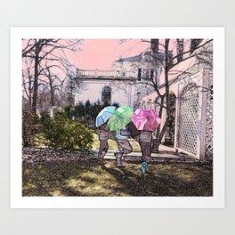 3 Umbrella's! Art Print