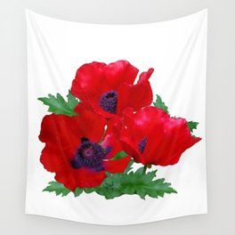 Red oriental poppies Wall Tapestry