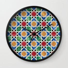 Moroccan mosaic Wall Clock