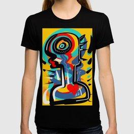 Wild Heart Street Art Graffiti Primitive T-shirt