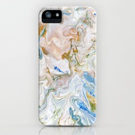 Abstract modern marbel wavy painting pattern iPhone Case