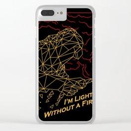 Welder Light Fire Clear iPhone Case