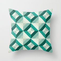 Emerald (Geometric pattern series) Throw Pillow