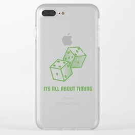 It's all about timing - gambling casino poker gift Clear iPhone Case
